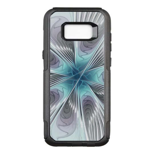 Elegance, Modern Blue Grey White Fractal Flower OtterBox Commuter Samsung Galaxy S8+ Case