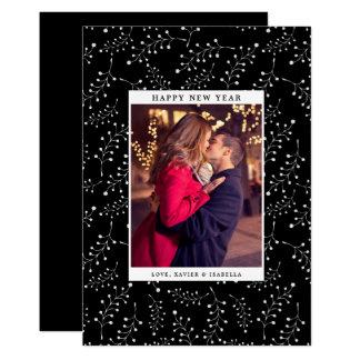 Elegance New Year Photo Holiday Card
