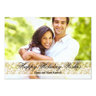"Elegance - Photo Holiday Card 5"" X 7"" Invitation Card"
