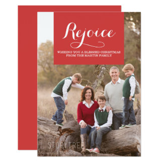 Elegance Squared Holiday Photo Card | Red