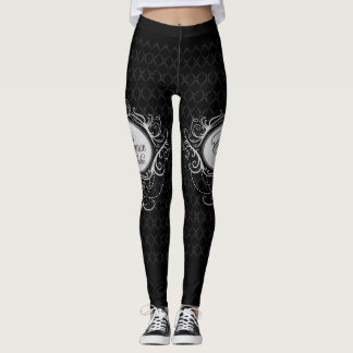 Elegance Style Blac Womans Leggings