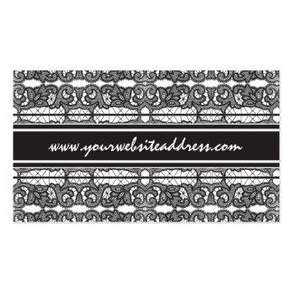 Élégance vintage formelle de dentelle noire carte de visite standard