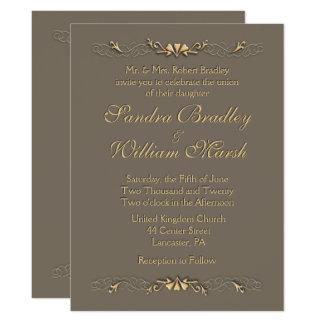 """Elegance Wedding 6.5"""" X 8.75"""" Invitation Card"""