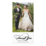 Elegance   Wedding Thank You Photo Card