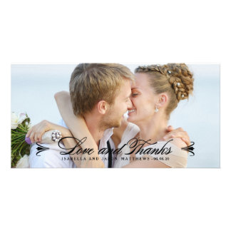 ELEGANCE | WEDDING THANK YOU PHOTO CARD - Black