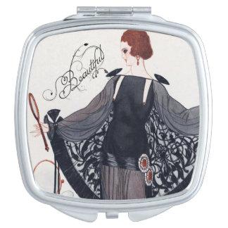 Elegant 1920's Art Deco Lady - Compact Mirror