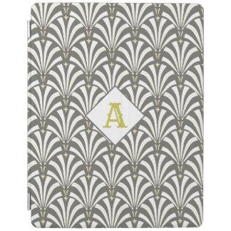 Elegant 1920s Art Deco White & Gray Palmettos iPad Cover