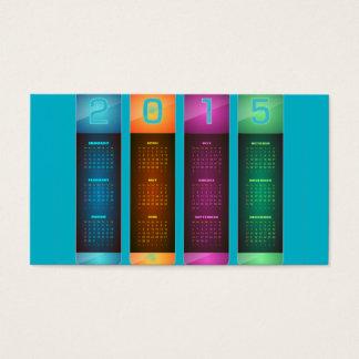 Elegant 2015 Colorful Calendar Business Card