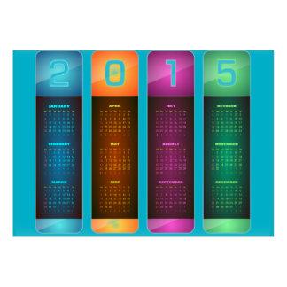 Elegant 2015 Colorful Calendar Large Business Card