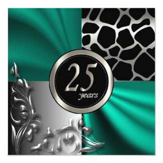 Elegant 25 Years Party Invitation Template