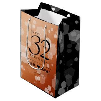 Elegant 32nd Bronze Wedding Anniversary Medium Gift Bag