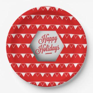Elegant 3D Holidays Paper Plate