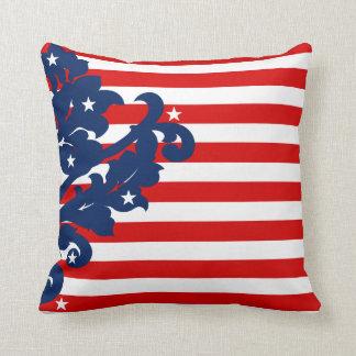 Elegant 4th of July patriotic Throw Pillow