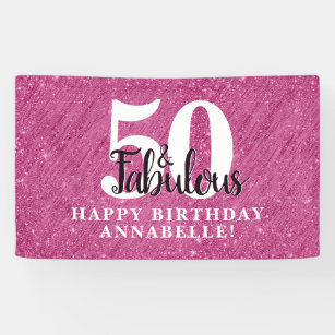 7x5 Fifty Years Old Photo Background for Men and Women 50th Happy Birthday Backdrop 7x5 feet Black and Gold Birthday Banner for Party