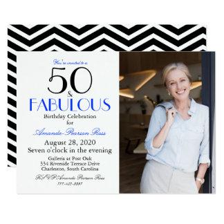 Elegant 50 & Fabulous photo card