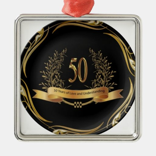 ELEGANT 50th ANNIVERSARY GIFTS Christmas Ornaments