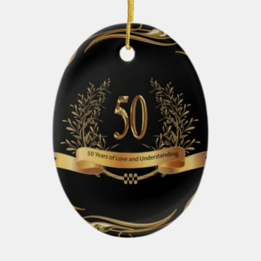 ELEGANT 50th ANNIVERSARY GIFTS Ornaments