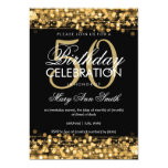 "Elegant 50th Birthday Party Sparkles Gold 5"" X 7"" Invitation Card"