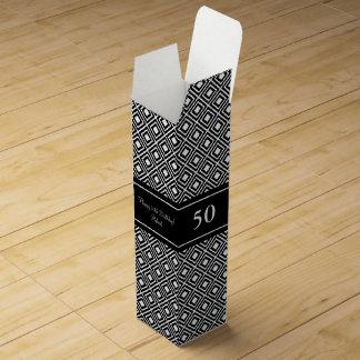 Elegant 50th Birthday wine gift box