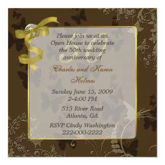 Elegant 50th Wedding Anniversary Invitation