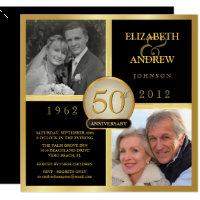 Nice Elegant 50th Wedding Anniversary Photo Invitations