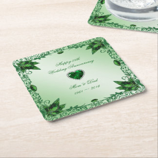 Elegant 55th Wedding Anniversary Coaster