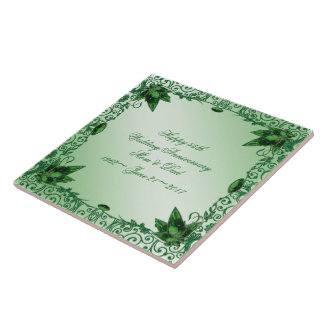 Elegant 55th Wedding Anniversary Tile