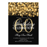 Elegant 60th Birthday Party Sparkles Gold 5x7 Paper Invitation Card