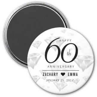 Elegant 60th Diamond Wedding Anniversary Magnet