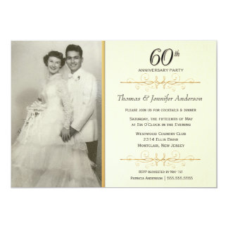 60th Anniversary Invitations & Announcements | Zazzle Canada