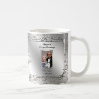 Elegant 60th Wedding Anniversary Photo Coffee Mug