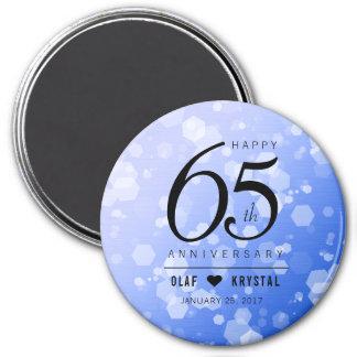 Elegant 65th Blue Sapphire Wedding Anniversary Magnet
