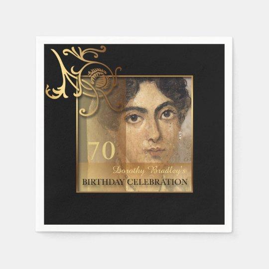 Elegant 70th Birthday Photo Paper Napkins