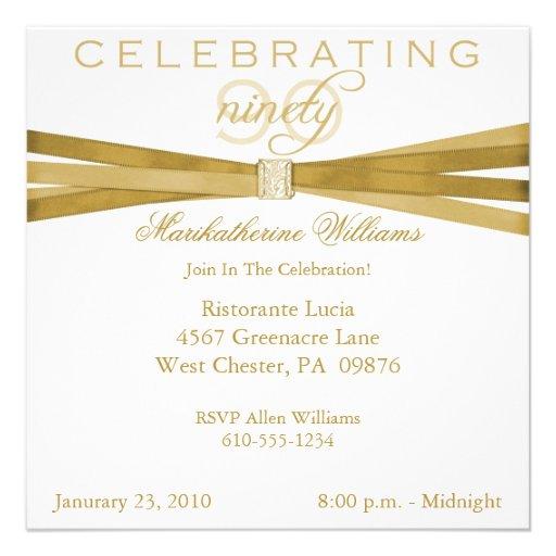 90Th Birthday Invitation Templates with beautiful invitation sample