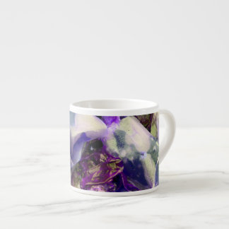 Elegant Abstract Artful Purple Espresso Cup