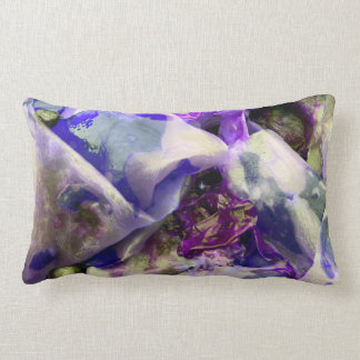 Elegant Abstract Artful Purple Lumbar Pillow
