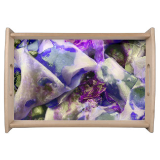 Elegant Abstract Artful Purple Serving Tray