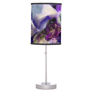 Elegant Abstract Artful Purple Table Lamp
