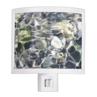 Elegant Abstract Artful White and Blue Night Lights