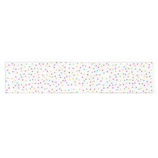 Elegant abstract colorful confetti short table runner