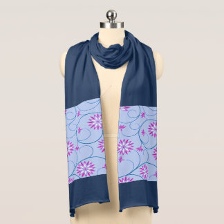 Elegant Abstract Flowers 10 Scarf