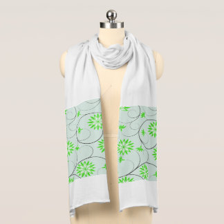 Elegant Abstract Flowers 5 Scarf