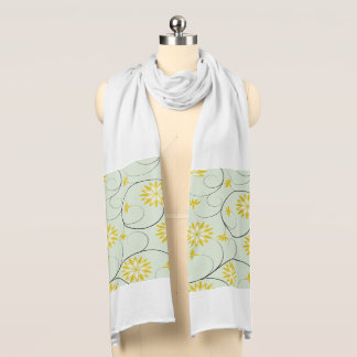 Elegant Abstract Flowers 6 Scarf