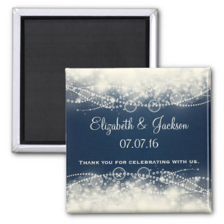 Elegant Abstract Lace and Pearls Wedding Favor Magnet