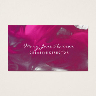 Elegant Abstract of Dreamy Red Brushstrokes Business Card