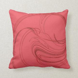 Elegant Abstract SalmonPink on Pink Fractal Pillow