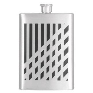 Elegant abstract stripe pattern hip flask