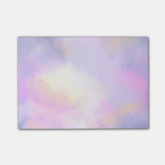 Elegant Abstract Watercolor Cosmic Space Design Post-it® Notes