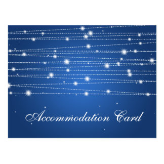 Elegant Accommodation Sparkling Lines Sapphire Postcard
