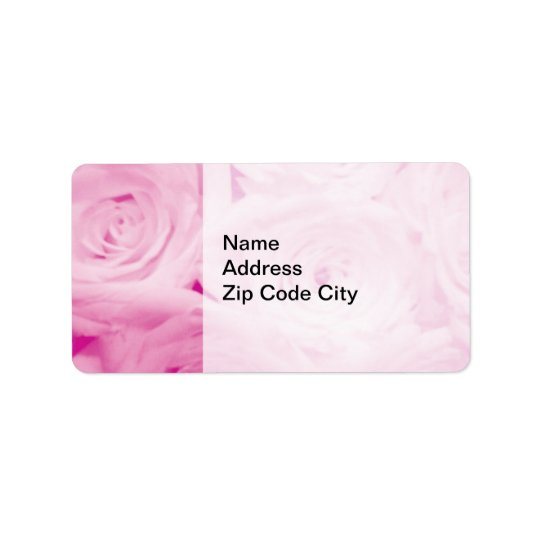 Elegant address stickers | Pink rose flower design